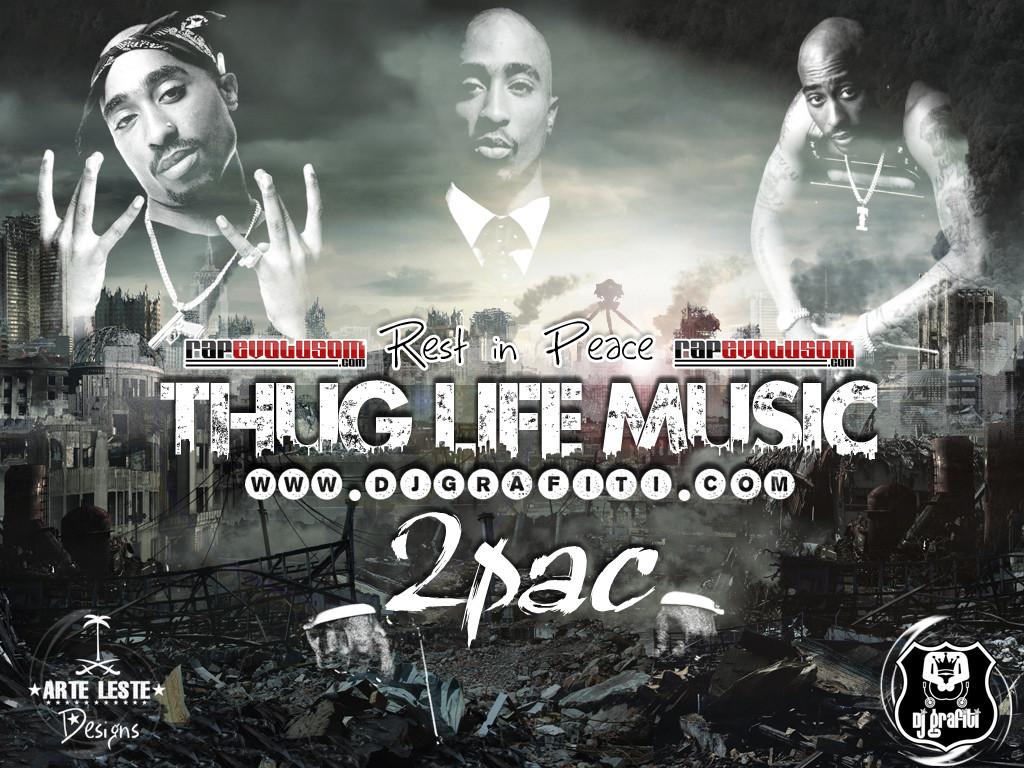 2pac Wallpapers Thug Life 1024x768