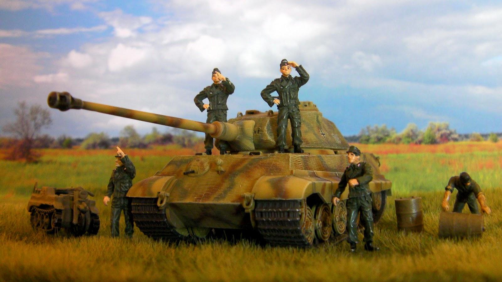Обои на рабочий стол с танком тигр