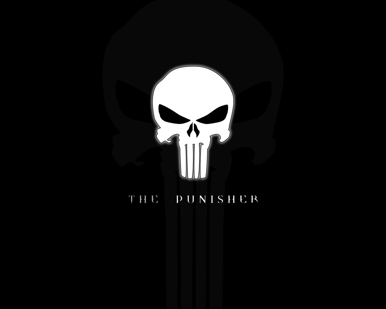 Desktop Wallpaper: Punisher Skull Logo HD Wallpaper