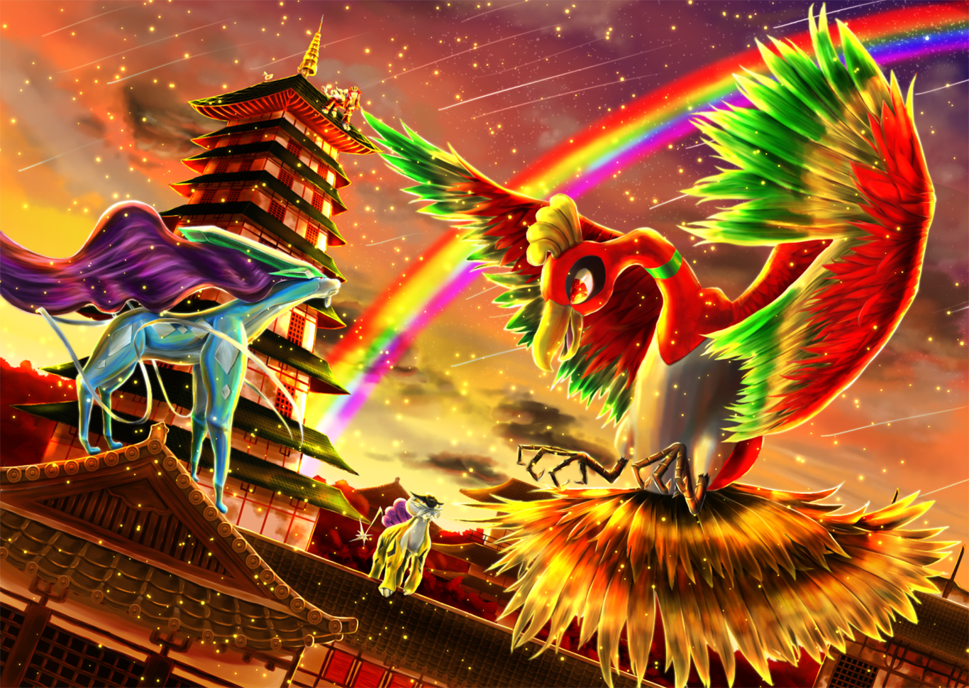 33 Ho oh Pokmon HD Wallpapers Background Images 1366x969
