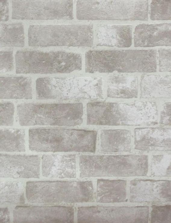 White Stone Bright Pale Grout Bricks Faux Texture   Wallpaper By 568x741