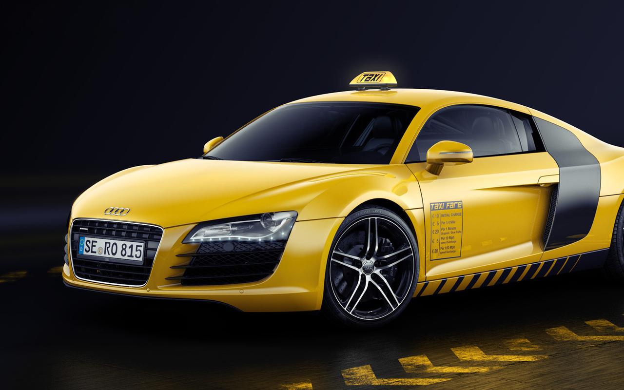 papel de parede audi txi amarelo audi r8 carros grandes 1280x800