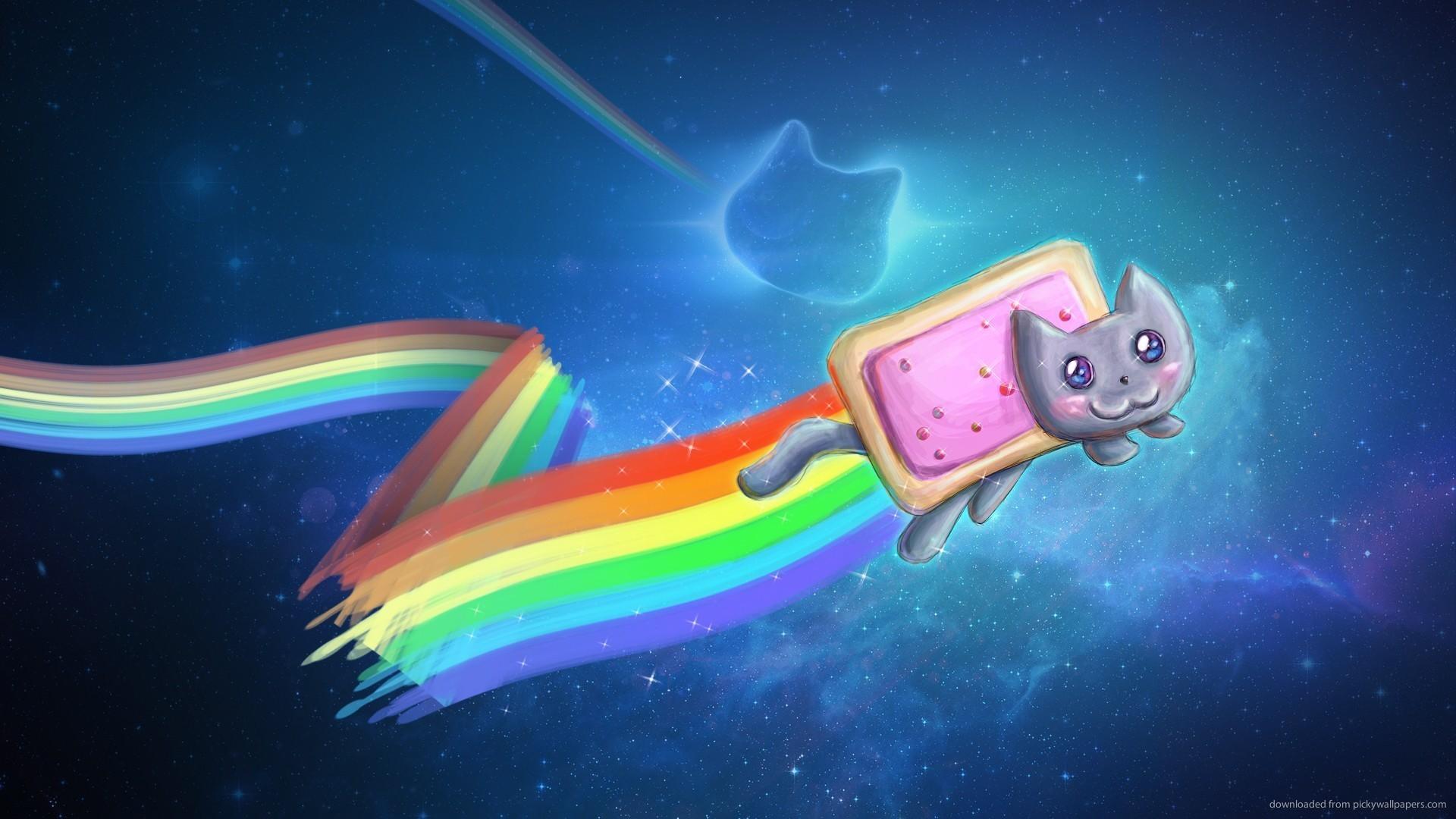 HD Nyan Cat Cool Art Wallpaper 1920x1080