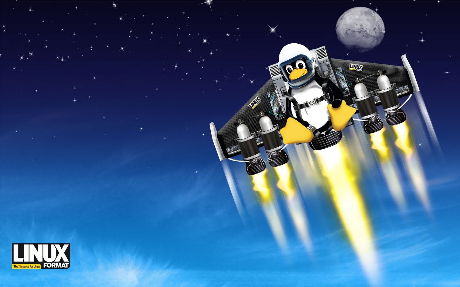 Linux Logo and HD Backgrounds Download Wallpapers in HD for your 1600x1000