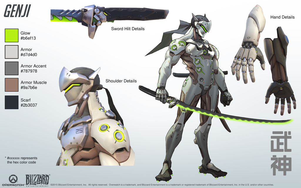 Genji   Overwatch   Close look at model by PlanK 69 1024x640