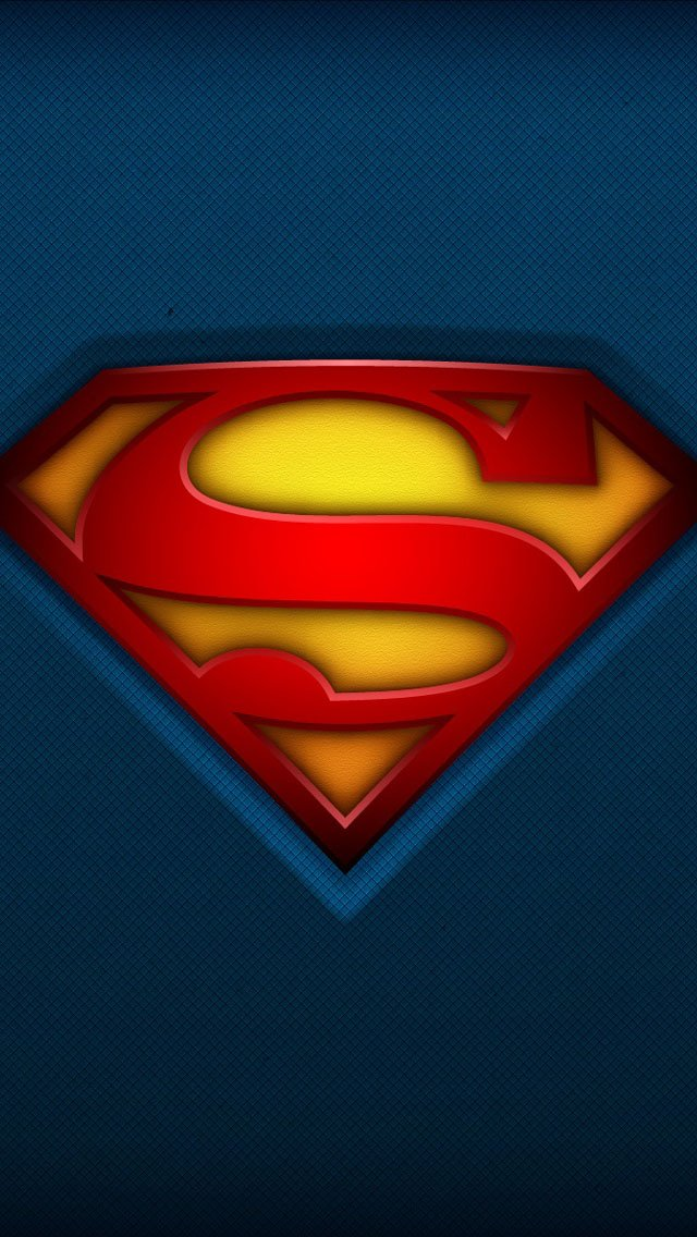 Fabric Superman Logo iPhone 6 6 Plus and iPhone 54 Wallpapers 640x1136