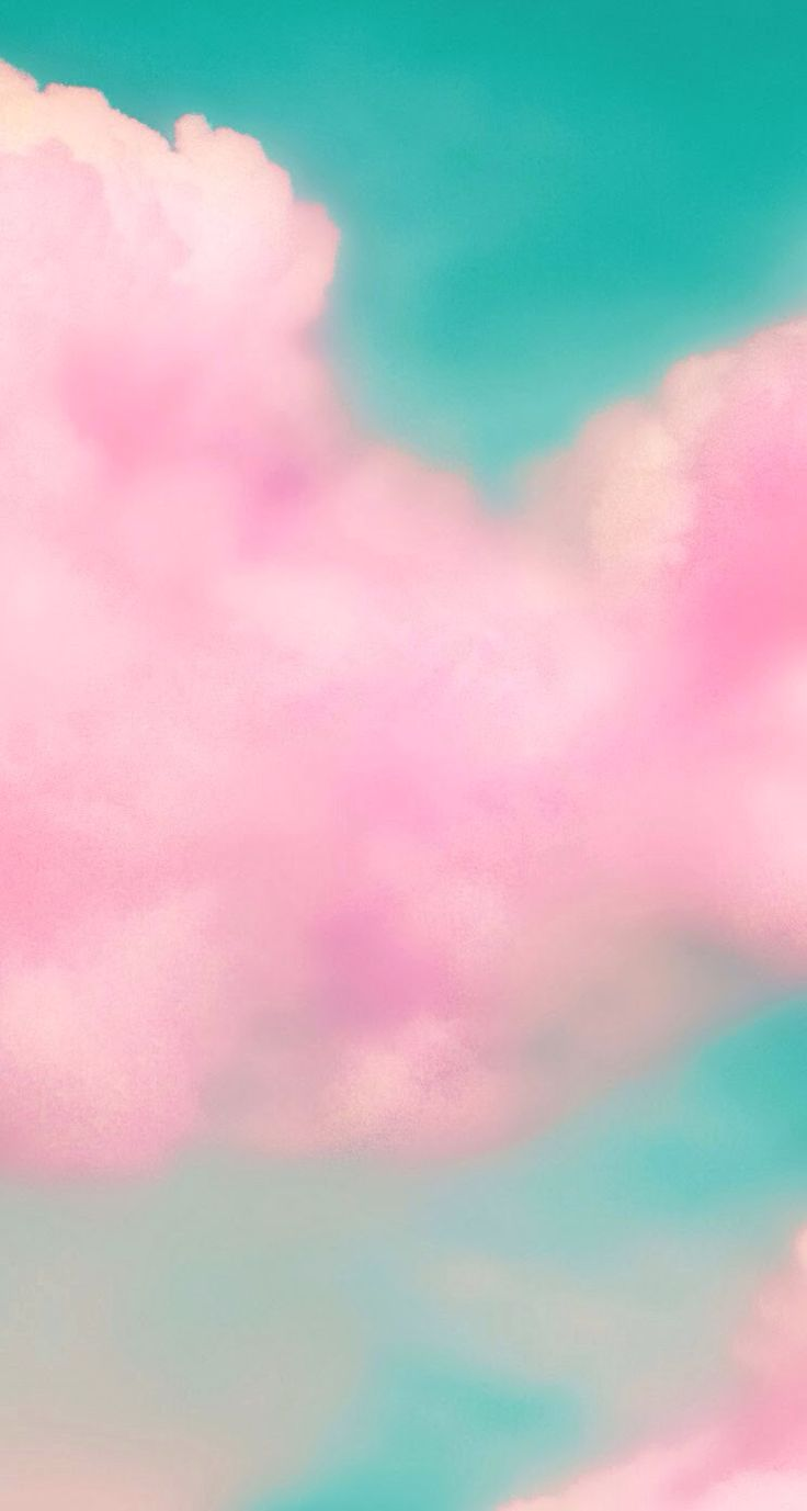 Pink cloud iphone wallpaper Iphone wallpapers Pinterest Pink 736x1377