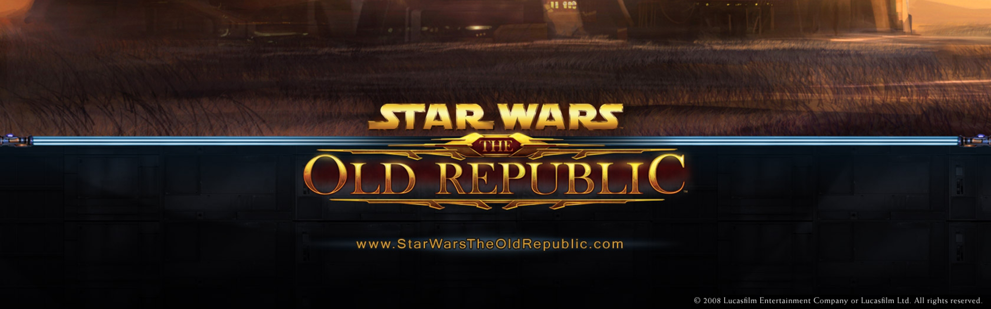 3840x1200 Wallpaper star wars the old republic houses sky planets 3840x1200