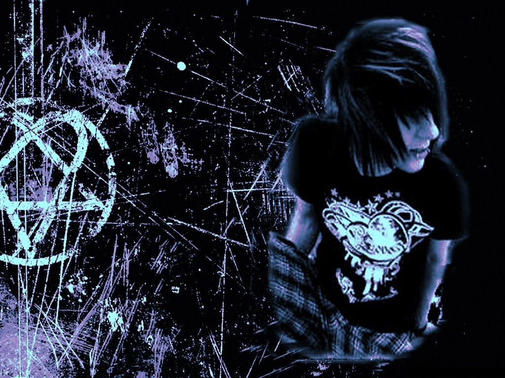 Emo Layouts Emo Backgrounds Emo Girls Wallpaper Templates 1024x768