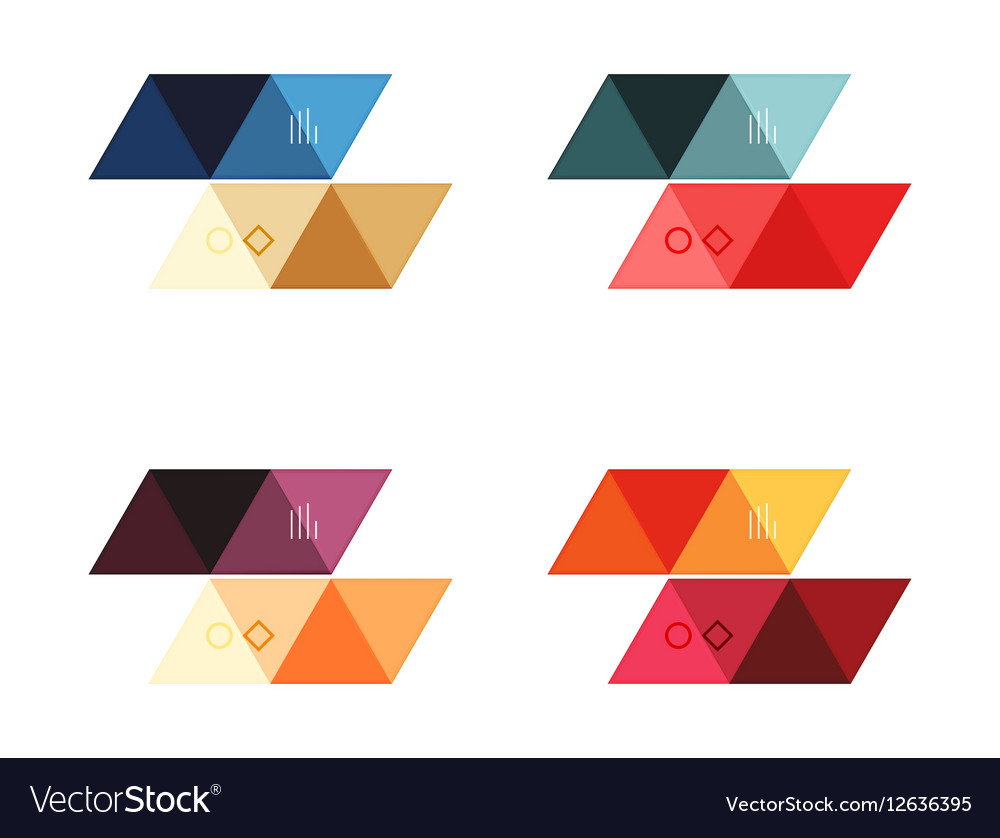 Blank triangle infographic backgrounds Royalty Vector 1000x838