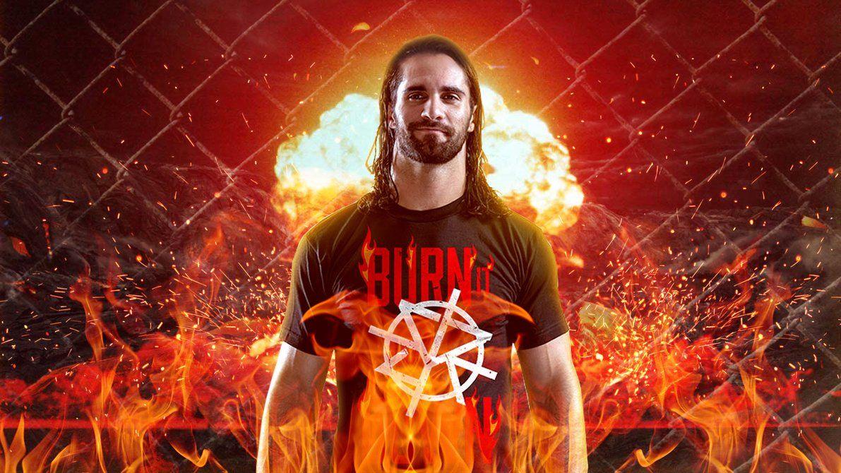 Seth Rollins Burn It Down 2335149   HD Wallpaper Backgrounds 1191x670