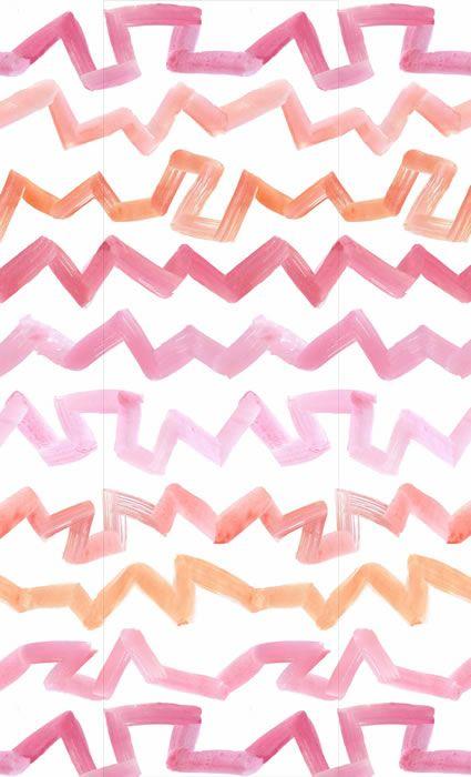 Sarah Ellison Pink Zig Zag Wallpaper Wallpapers Pinterest 425x700