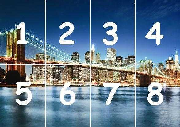 Cityscape New York Brooklyn Bridge Manhattan wallpaper wall mural 587x414