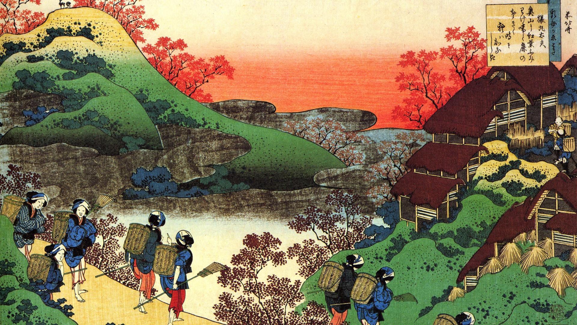 Japanese artwork katsushika hokusai wallpaper 1920x1080
