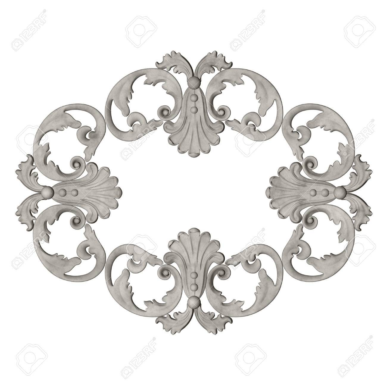 3d Frame The Sculptural Form On A White Background Stock Photo 1300x1300