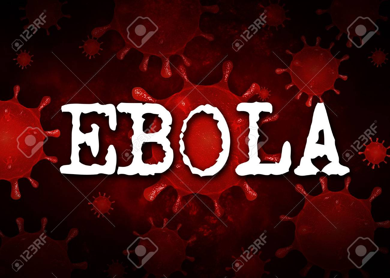 Ebola Virus Background Red Respiratory Syndrome Stock Photo 1300x926