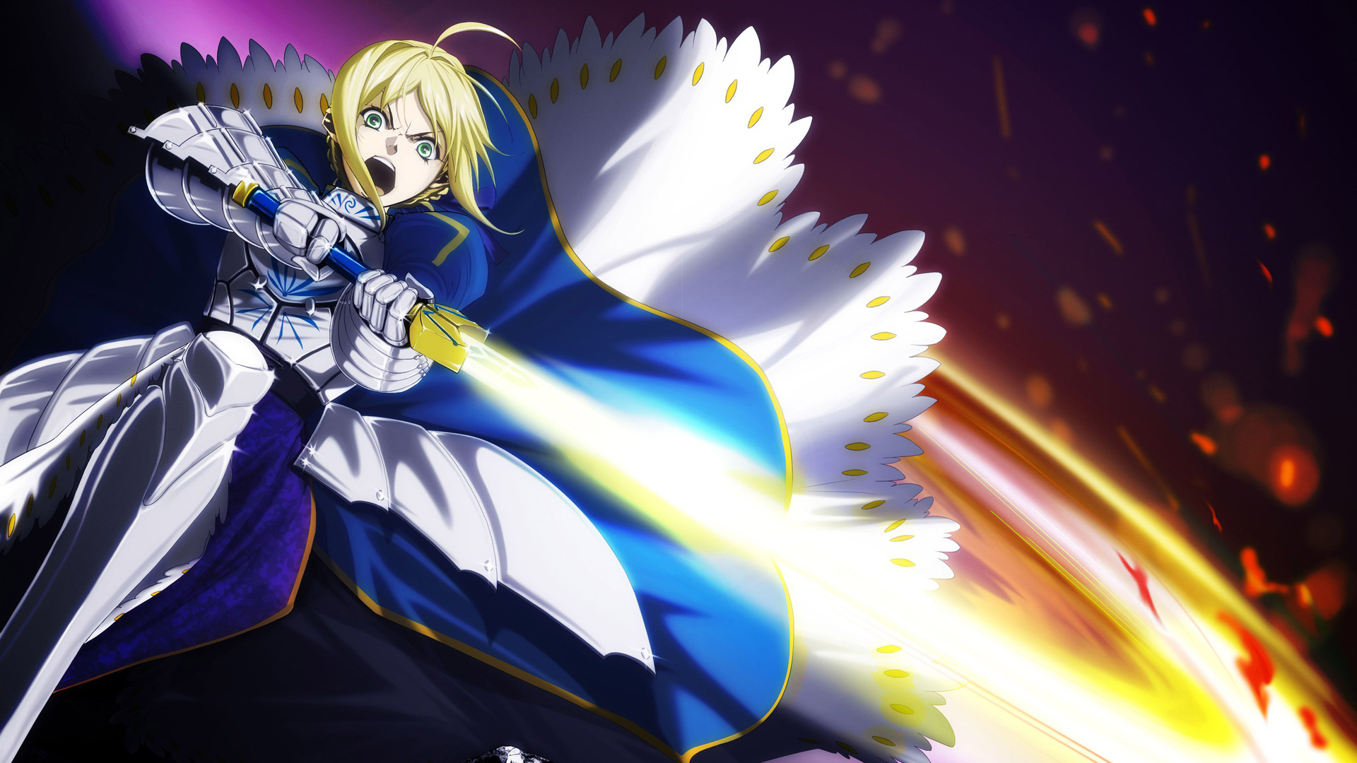 Fatestay night   Saber wallpaper 1920x1080