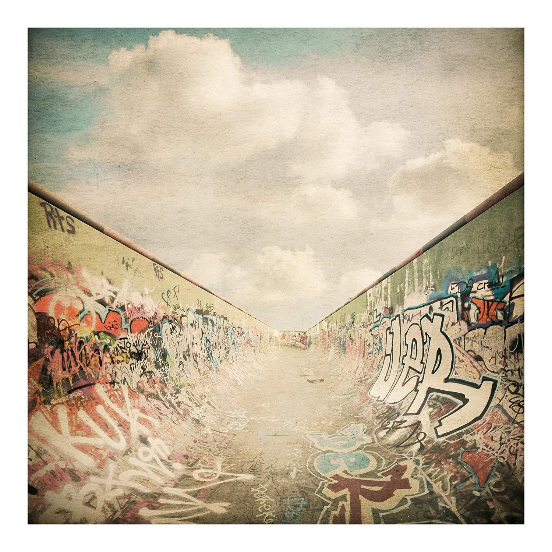 Non woven Wallpaper   Graffiti Skatepark   Mural Square wallpaper 1500x1500