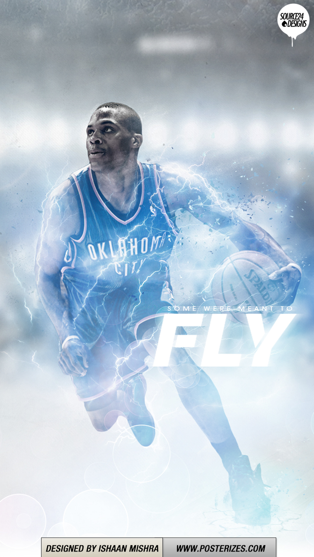 Russell Westbrook Flight Wallpaper Posterizes NBA Wallpapers 640x1136