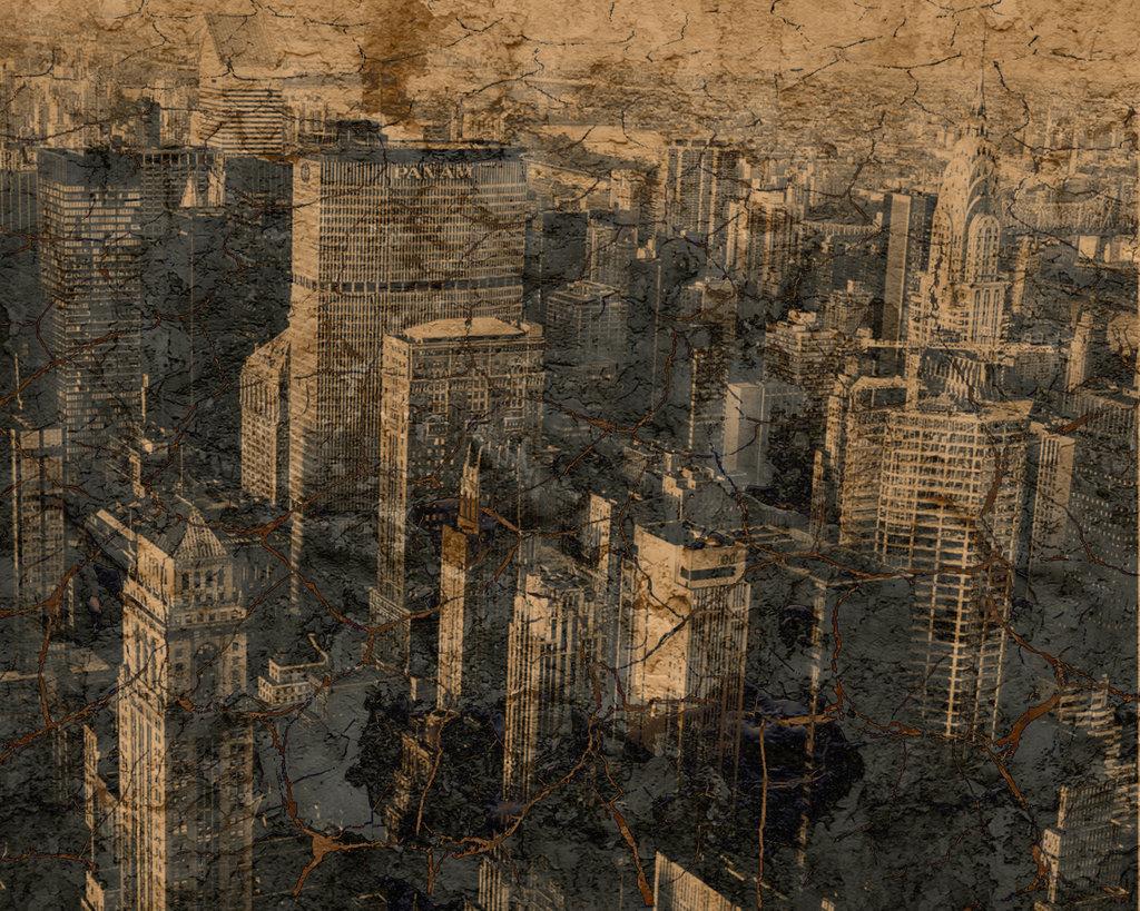 grunge city background by kmk422 1024x819