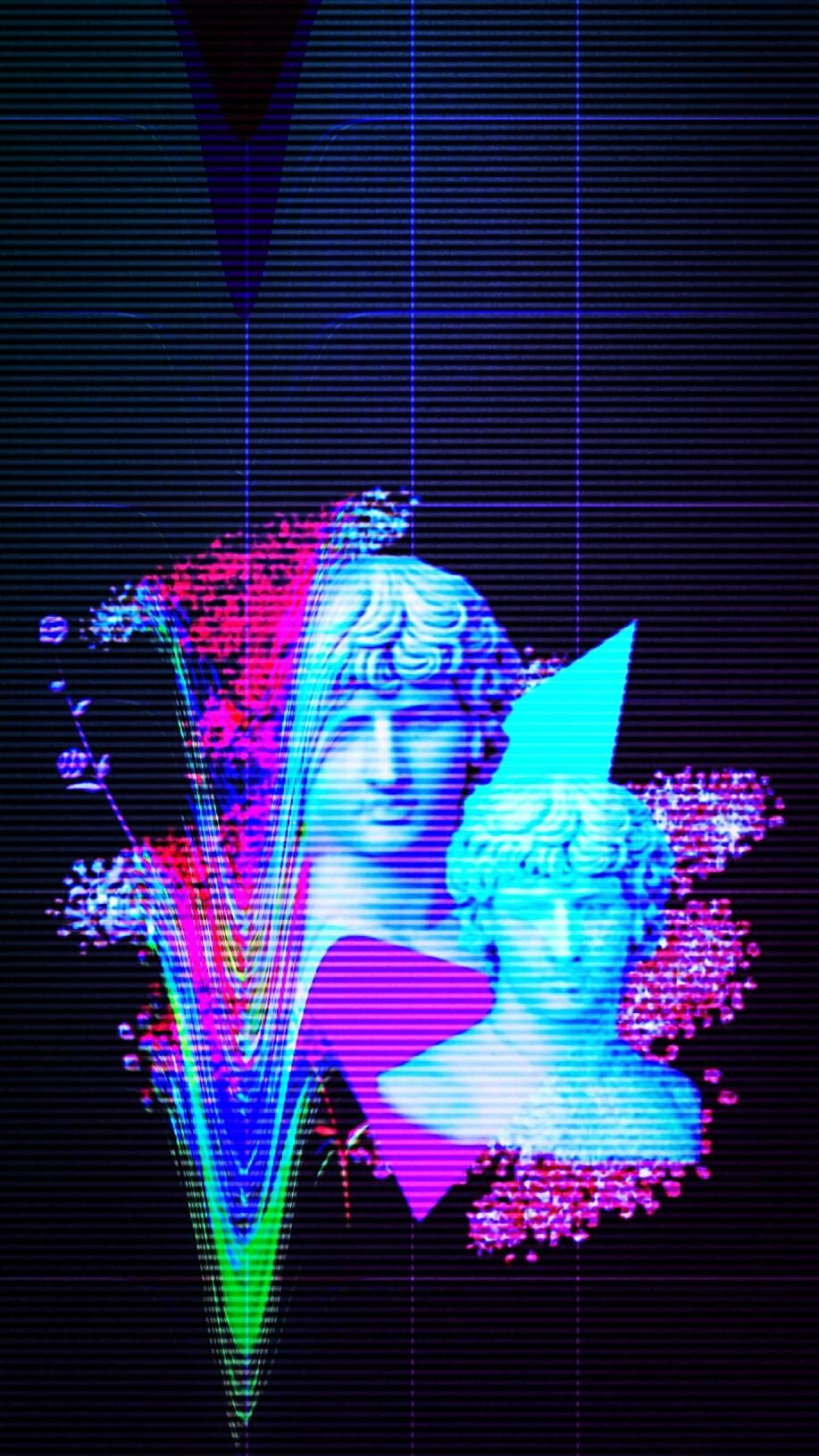916 Phone Wallpaper vaporwave art Vapor in 2019 Vaporwave 917x1630