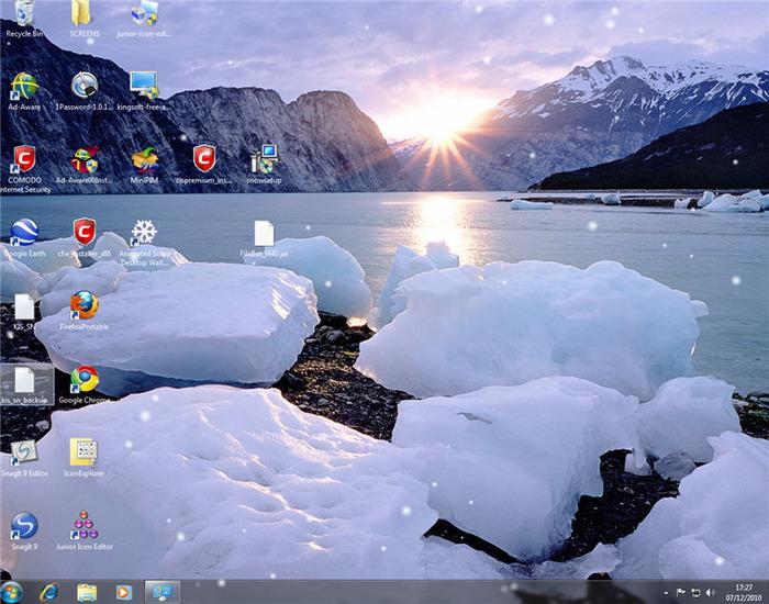 Animated Snow Desktop Wallpaper 700x550