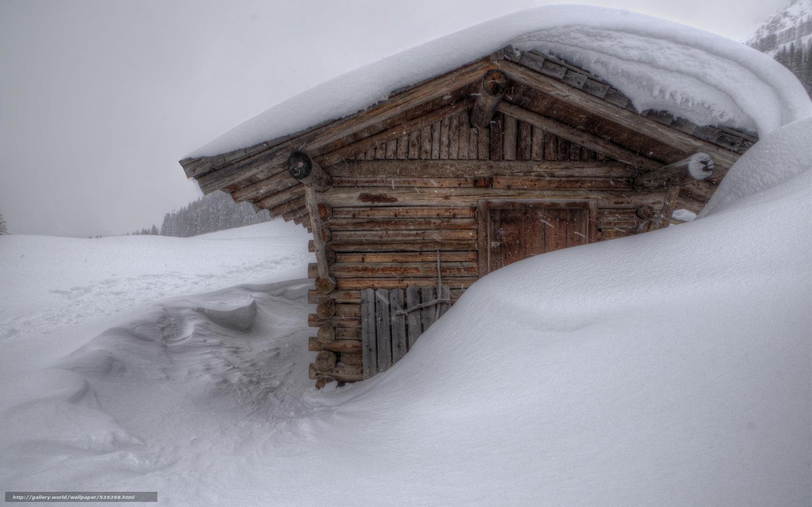 Download wallpaper winter drifts snow cabin desktop wallpaper 1600x1000