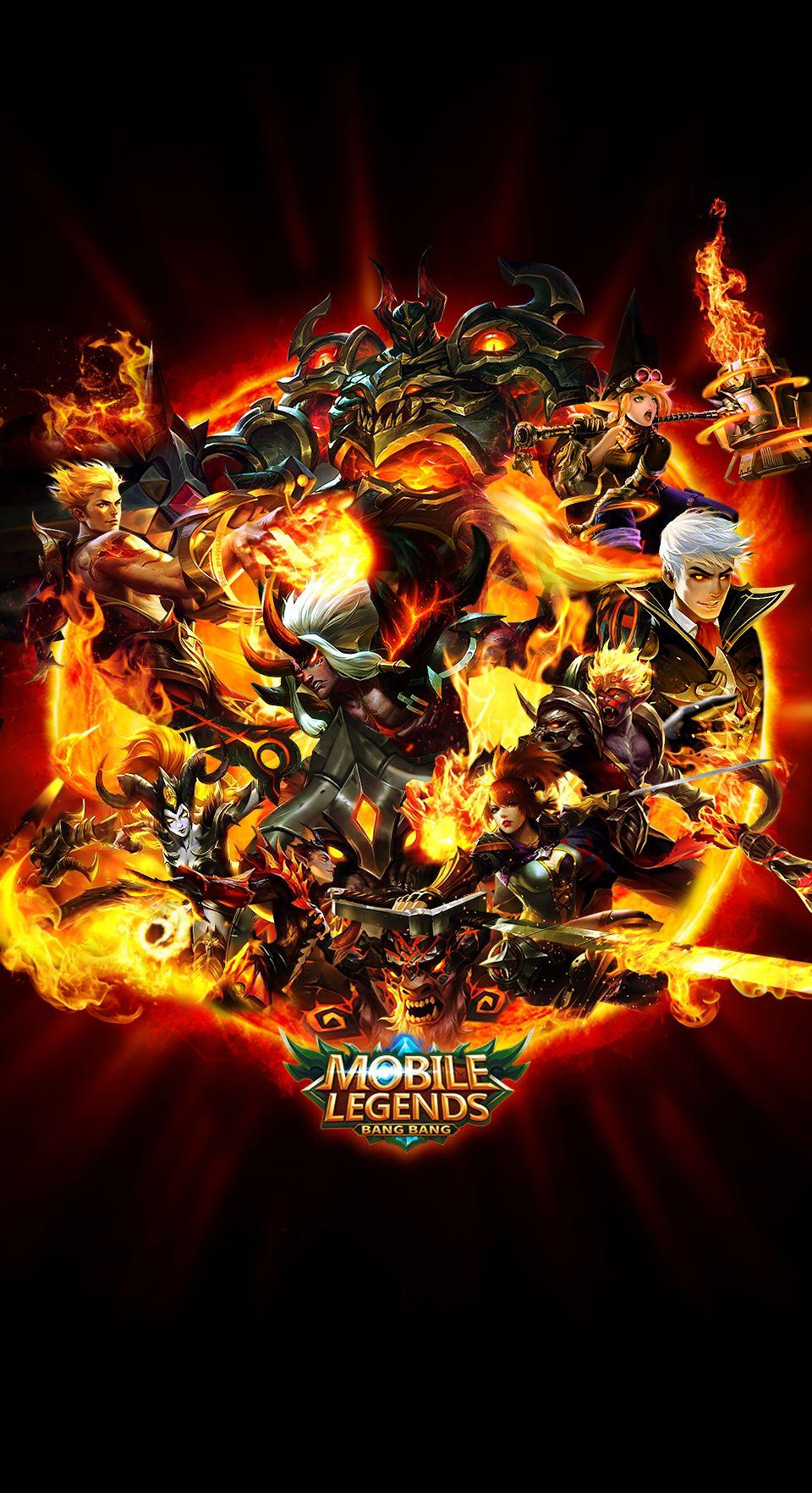 Team Fire Red Mobile Legends Mobile legend wallpaper Mobile 960x1763