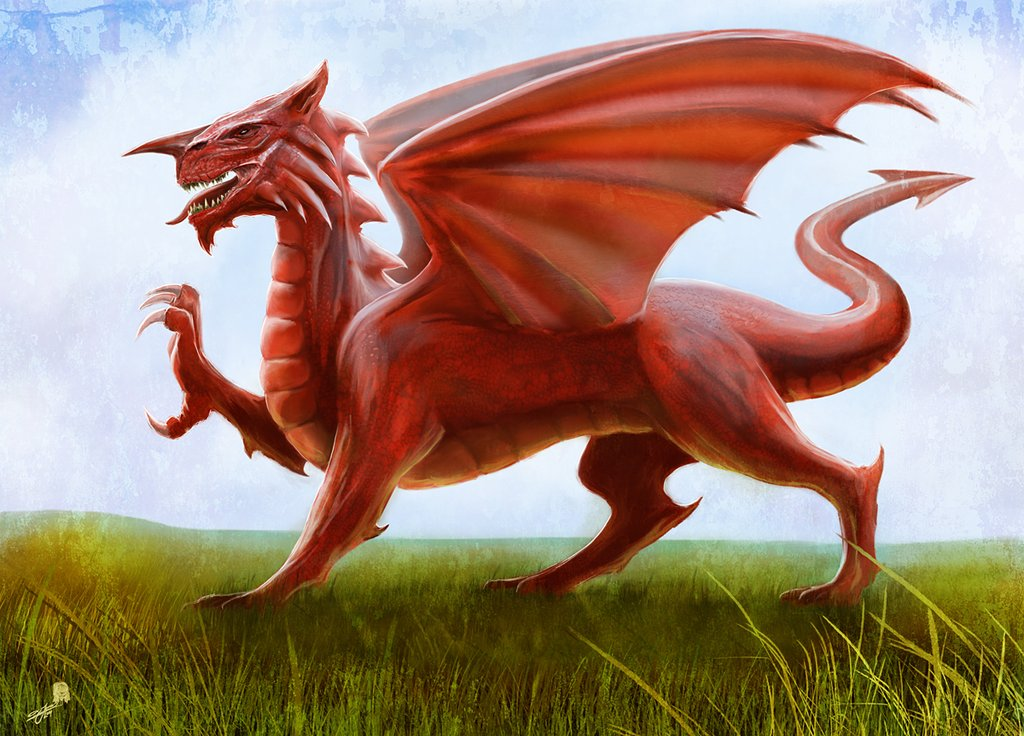 Welsh Flag   The Red Dragon by AndyFairhurst 1024x736