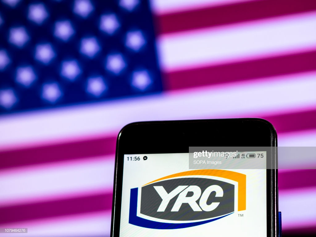 In this photo illustration the YRC Worldwide Holding company logo 1024x768