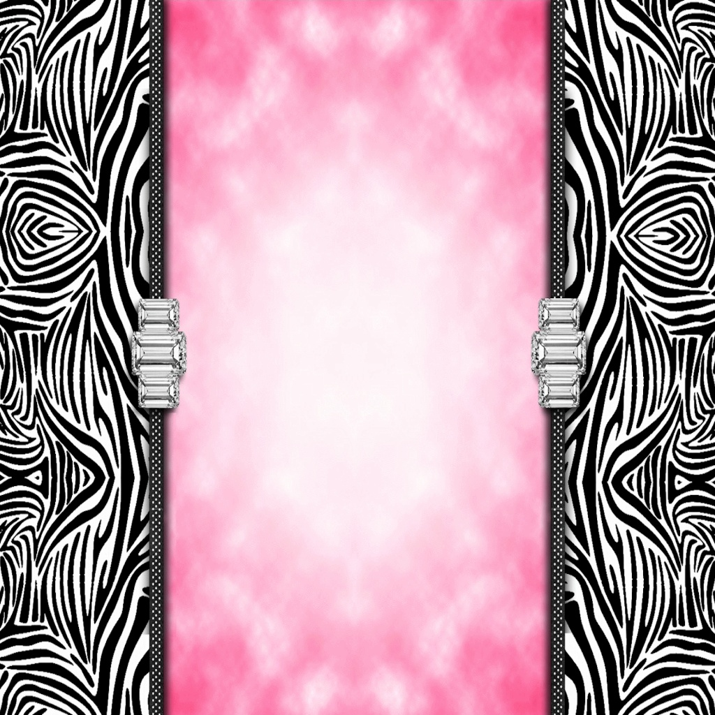 WalliePad Wallpapers for iPad Zebra Print Bling iPad Wallpaper 1024x1024