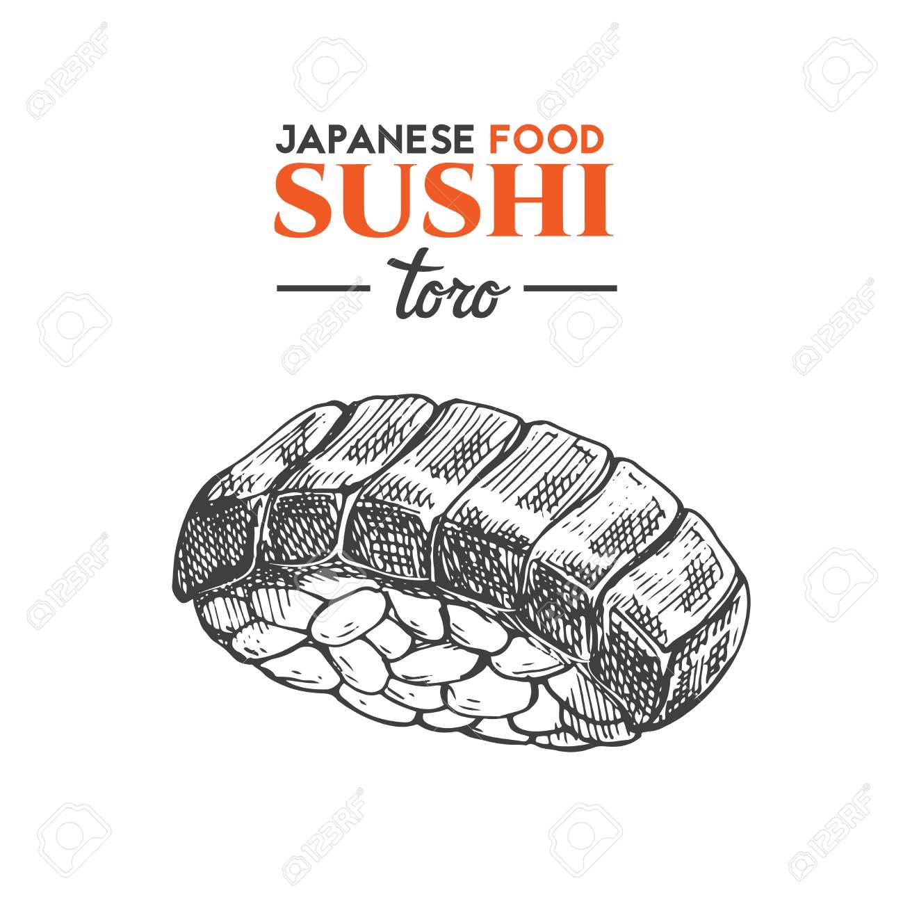 A Toro Sushi Icon Isolated On Plain Background Royalty 1299x1300