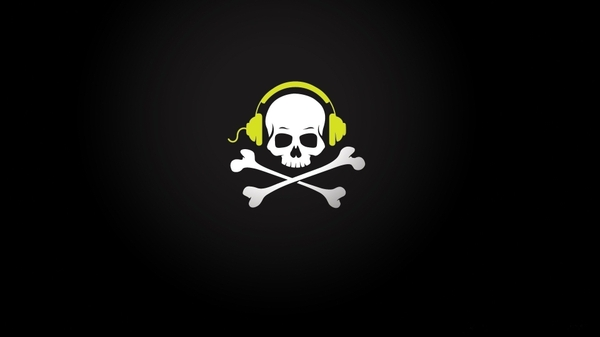 and crossbones headphones skull and crossbones 1920x1080 wallpaper 600x337