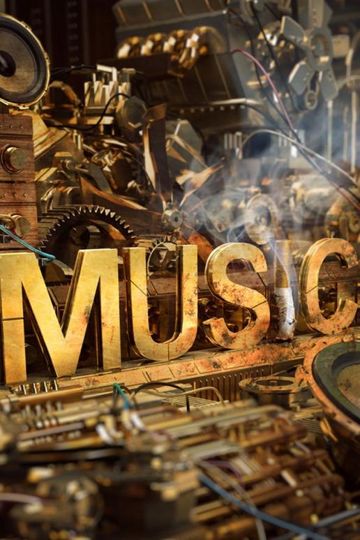 Steampunk Music iPhone HD Wallpaper 516x774