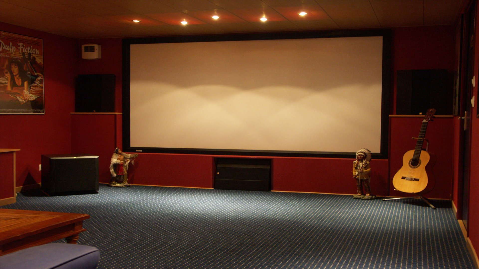 Home theater wallpaper wallpapersafari for Wallpaper home cinema