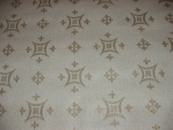 similar to VIntage 1950s Wallpaper   Gold Geometric Shapes on Etsy 570x428