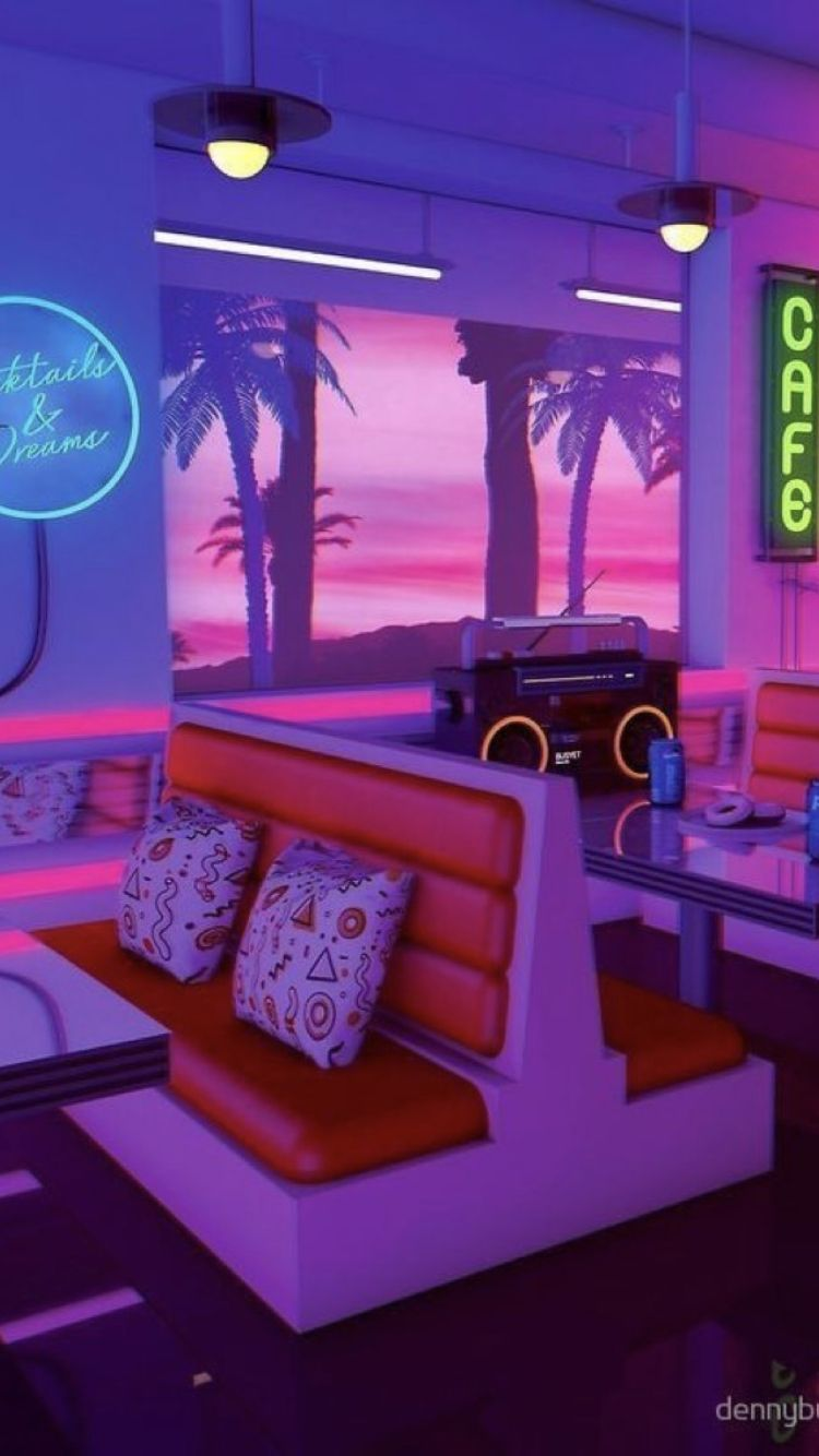 Pin by Pia Navidad on Wallpapers in 2019 80s aesthetic Neon 750x1334