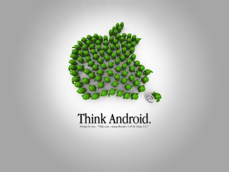 Android vs Apple Funny Wallpapers for Android Fans Dzineblog360 750x563