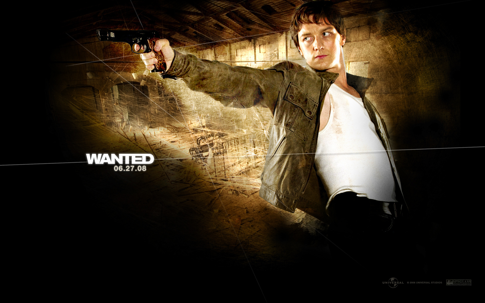 James McAvoy   Wesley Gibson   Wanted Wallpaper 1663002 1680x1050
