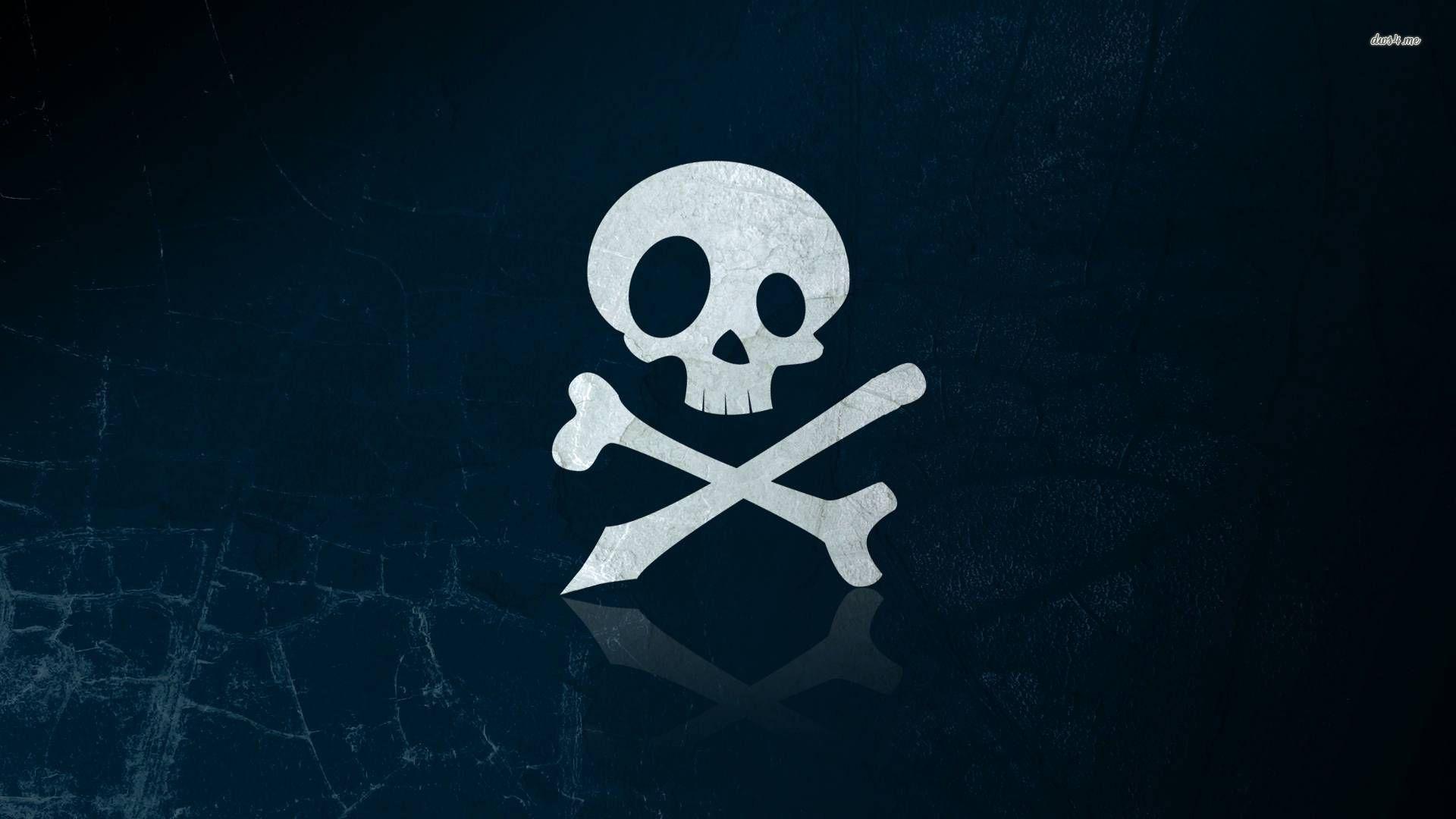 wallpaper skull bones pirate - photo #9