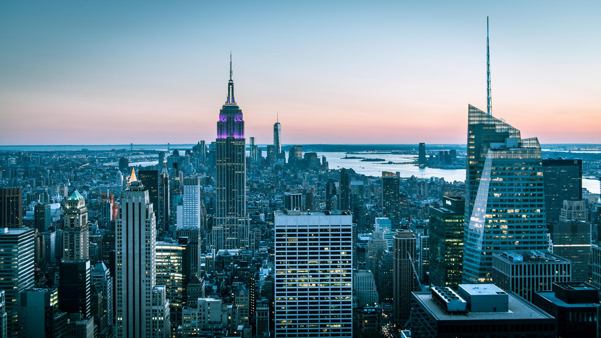 download New York Buildings Skyscrapers wallpaper background 1920x1080