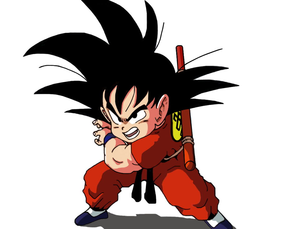 Kid Goku KAMEHAMEHA by S0N GOKU 900x733