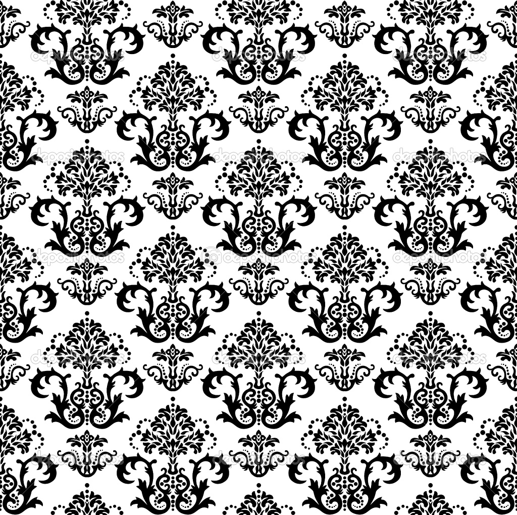 Seamless Black And White Floral Wallpaper Full HD Wallpapers 1024x1019
