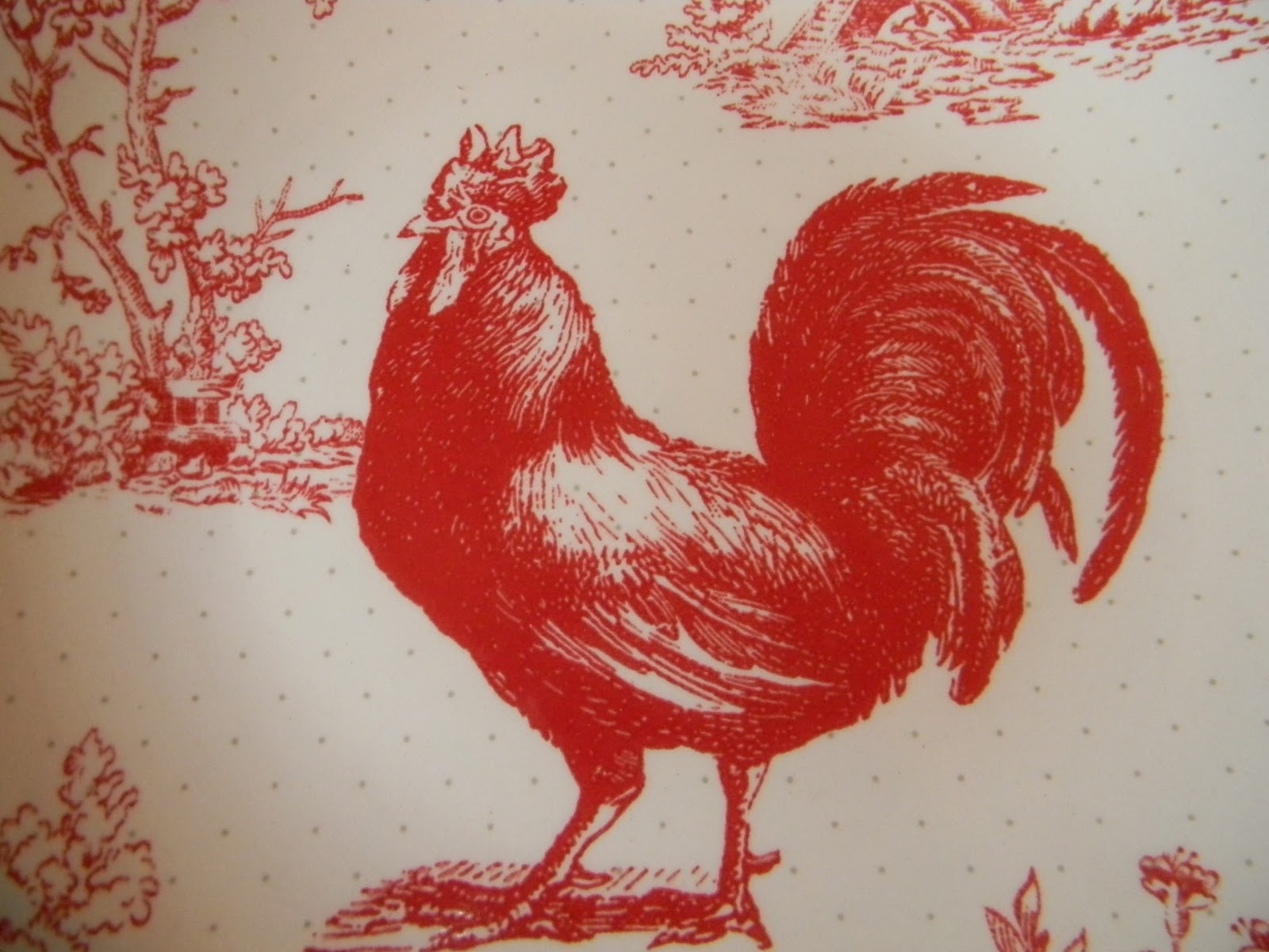 big red rooster designed - HD 1600×1200
