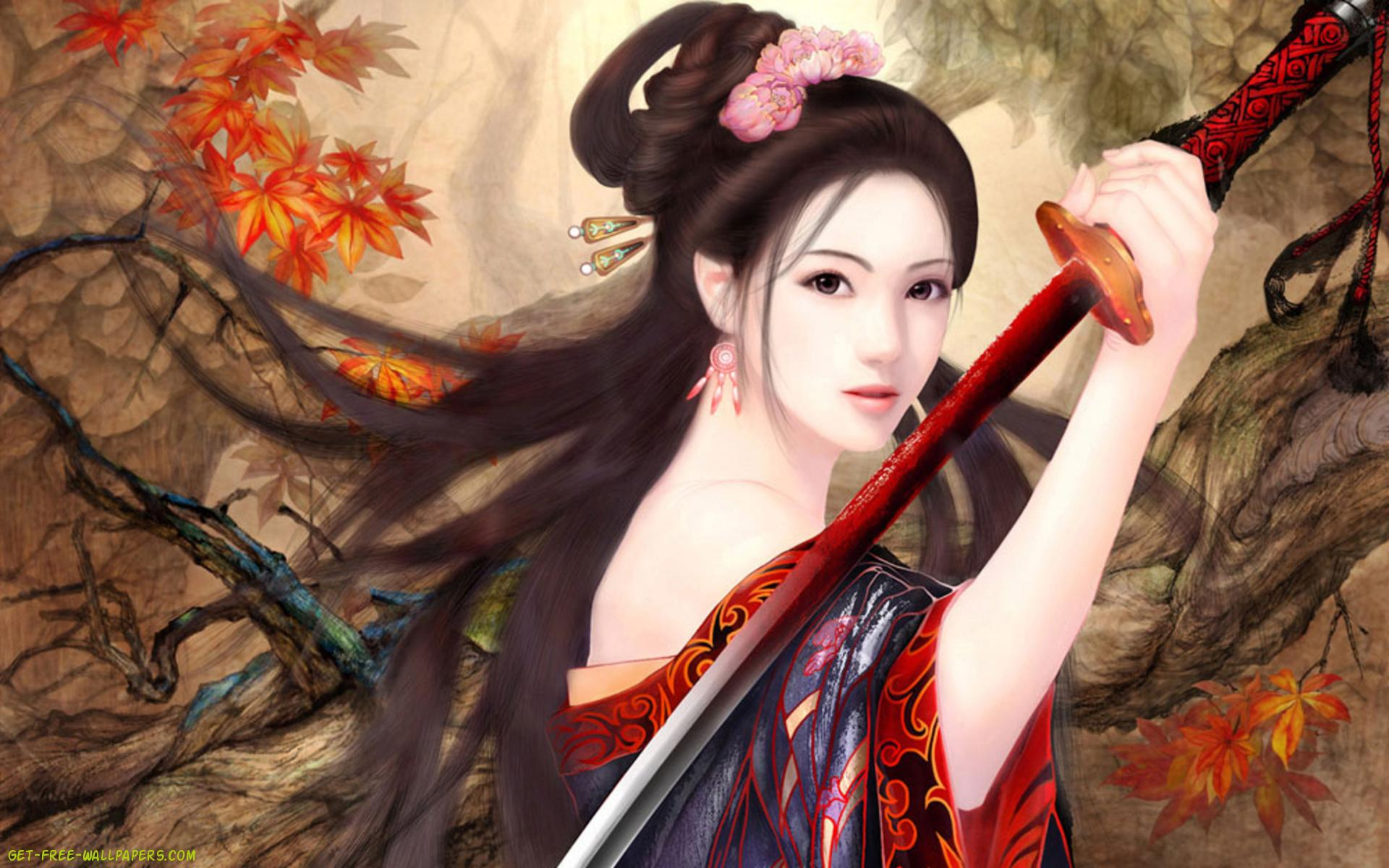 Oriental wallpaper wallpapersafari for Oriental wallpaper