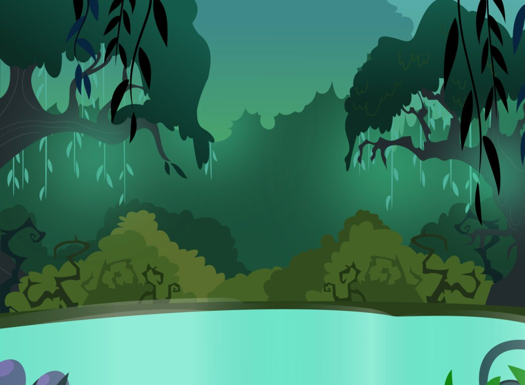 Swamp Cartoon Focus background by dewlshock 1043x766