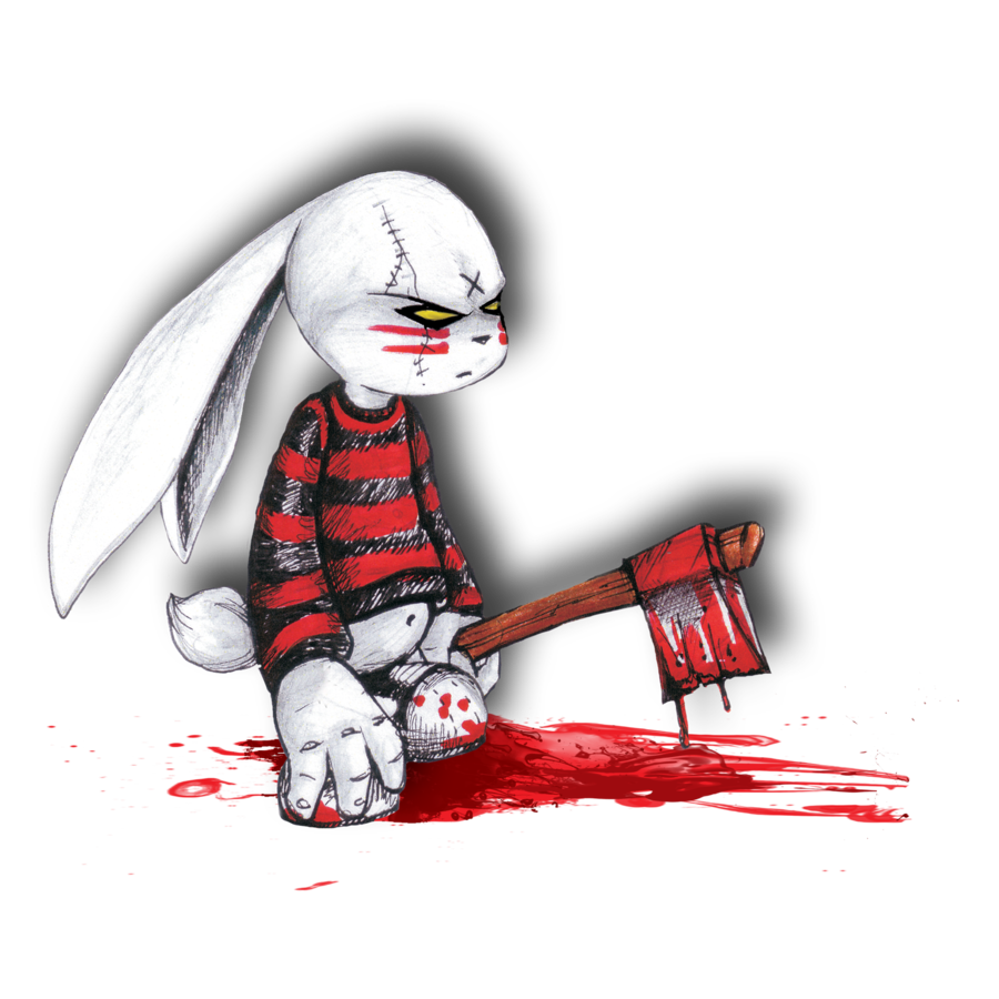 evil cartoon bunny - 900×900