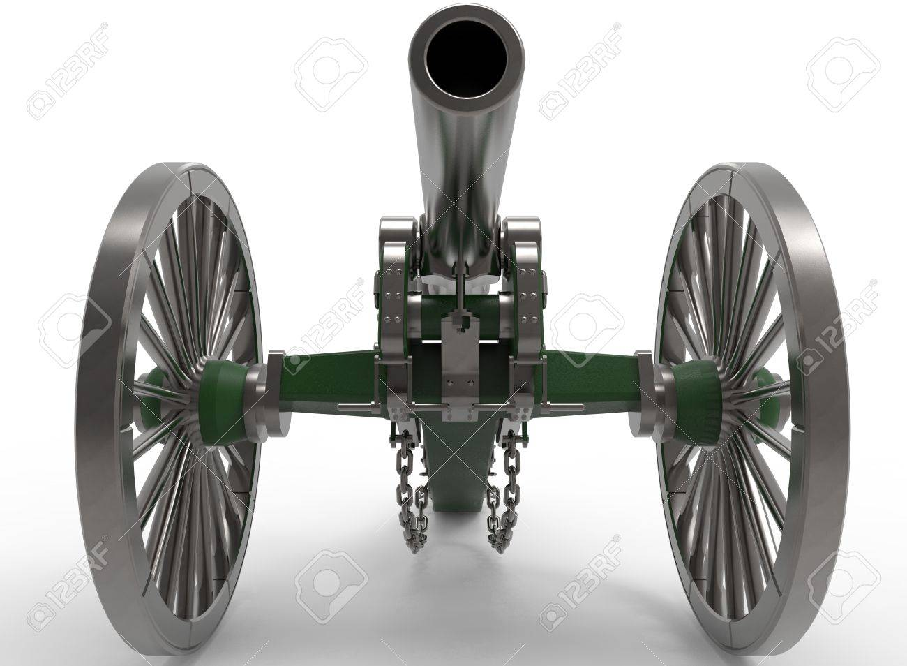 3d Illustration Of Civil War Cannon White Background Isolated 1300x954