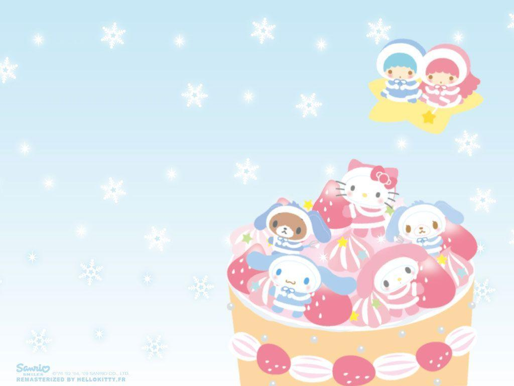 Hello Kitty Winter Wallpapers 1024x768
