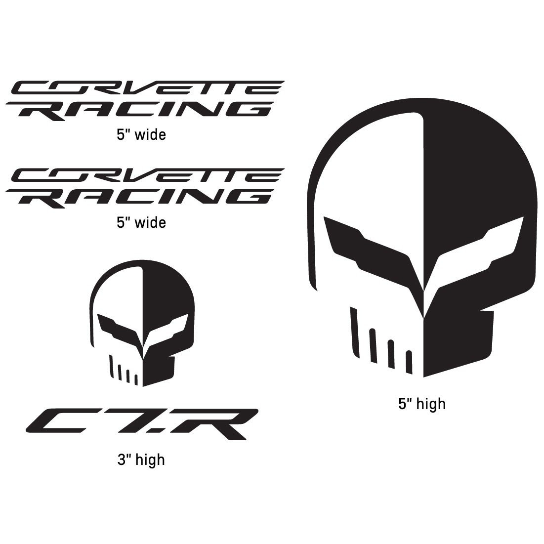 Corvette Racing Logo Corvette racingjake decal 1101x1101